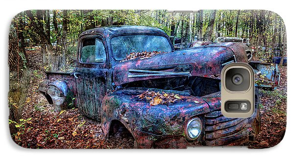 Galaxy Case featuring the photograph Rusty Blue Vintage Ford  Truck by Debra and Dave Vanderlaan