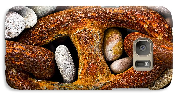 Galaxy Case featuring the photograph Rusty Chain by Gabor Pozsgai