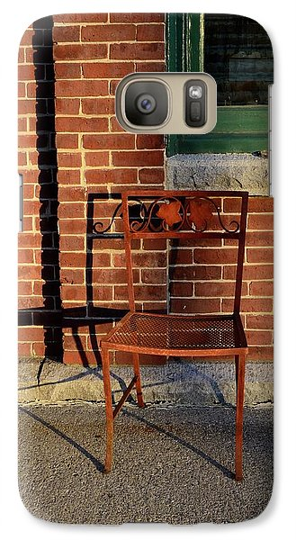 Galaxy Case featuring the photograph Rusty Chair At Sunset by Corinne Rhode