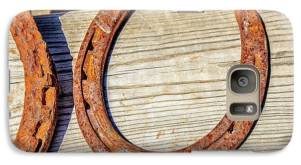 Galaxy Case featuring the photograph Rusty Horseshoes Found By Curators Of The Ghost Town Of St. Elmo by Peter Ciro