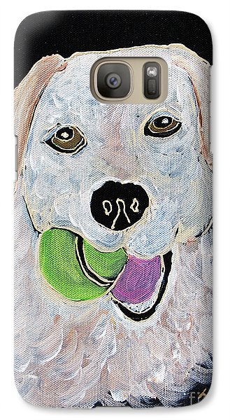 Galaxy Case featuring the painting Rusty On Canvas by Janice Rae Pariza