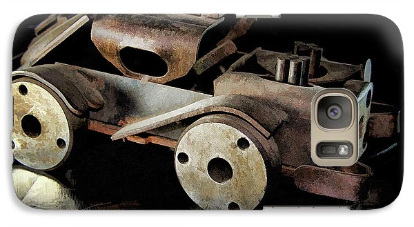 Galaxy Case featuring the photograph Rusty Rat Rod Toy by Wilma Birdwell