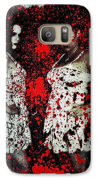 Galaxy Case featuring the digital art Ryli And Corinne 2 by Mark Baranowski