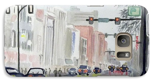 Galaxy Case featuring the painting S. Main Street In Ann Arbor Michigan by Yoshiko Mishina