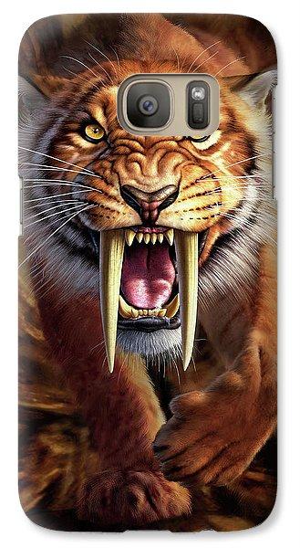 Tiger Galaxy S7 Case - Sabertooth by Jerry LoFaro