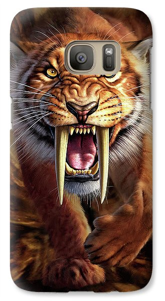 Lion Galaxy S7 Case - Sabertooth by Jerry LoFaro