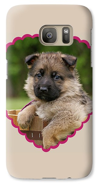 Galaxy Case featuring the photograph Sable Puppy In Heart by Sandy Keeton