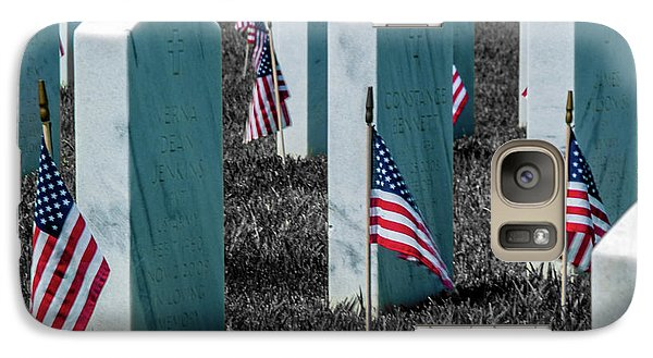 Galaxy Case featuring the photograph Sacramento Valley Veterans Cemetary by Bill Gallagher