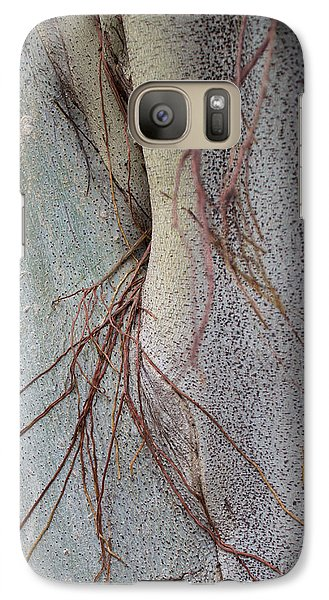 Galaxy Case featuring the photograph Sacred Bodhi Tree Detail With Red Creeper Vines by Jason Rosette