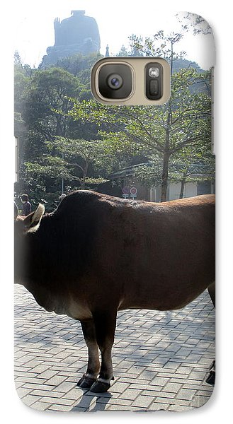 Galaxy Case featuring the photograph Sacred Cow 3 by Randall Weidner