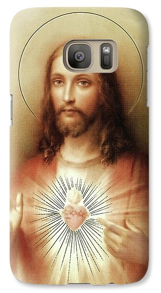 Galaxy Case featuring the mixed media Sacred Heart Of Jesus by Movie Poster Prints