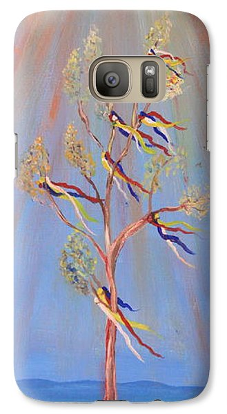 Galaxy Case featuring the painting Sacred Sun Dance Tree by Kate Purdy