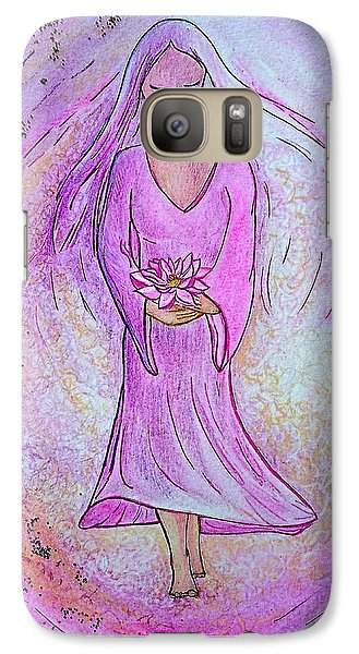 Galaxy Case featuring the painting Sacred Woman by Gioia Albano