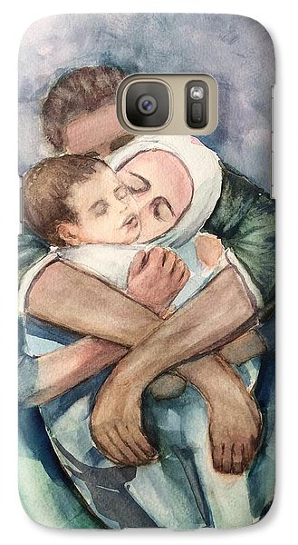Galaxy Case featuring the painting The Saddest Moment by Laila Awad Jamaleldin