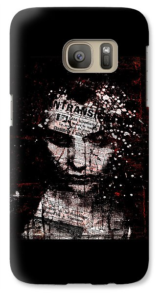 Galaxy Case featuring the digital art Sad News by Marian Voicu