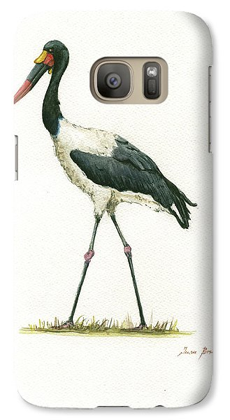 Stork Galaxy S7 Case - Saddle Billed Stork by Juan Bosco