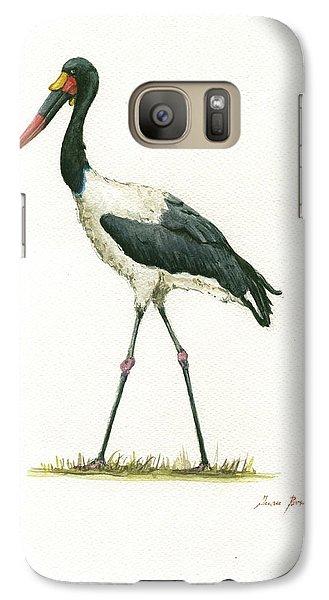 Crane Galaxy S7 Case - Saddle Billed Stork by Juan Bosco