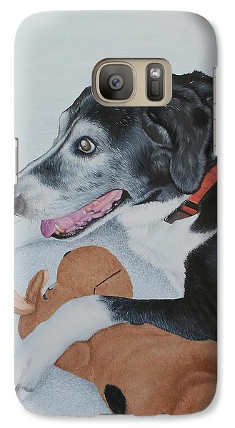 Galaxy Case featuring the painting Sadie by Mike Ivey