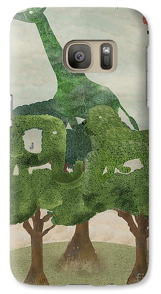 Galaxy Case featuring the painting Safari Wood by Bri B