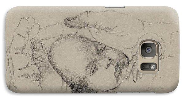 Galaxy Case featuring the drawing Safe by Annemeet Hasidi- van der Leij
