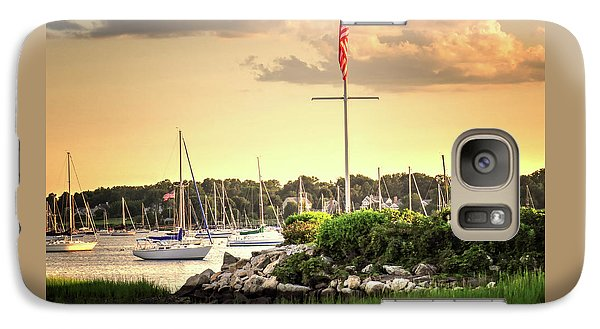 Galaxy Case featuring the photograph Safe Harbor Bristol Ri by Tom Prendergast