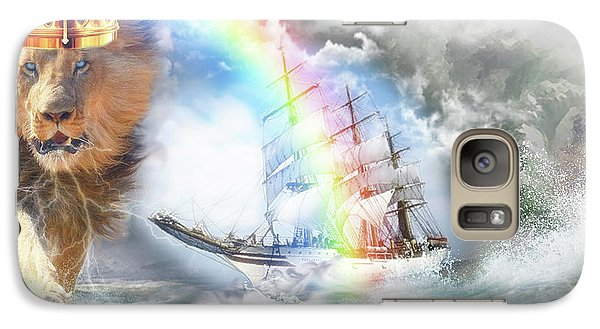 Galaxy Case featuring the digital art Safe Harbor  by Dolores Develde