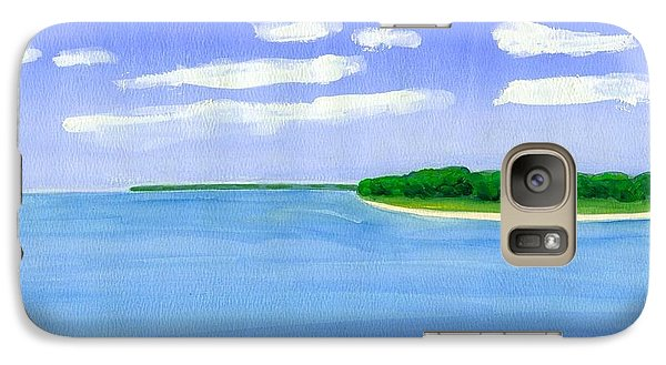 Galaxy Case featuring the painting Sag Harbor, Long Island by Dick Sauer