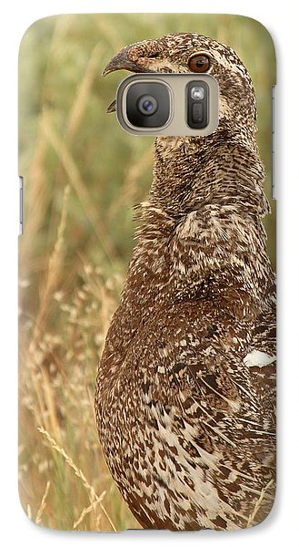 Galaxy Case featuring the photograph Sage Grouse Calling by Max Allen