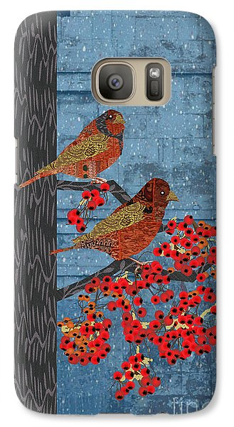 Galaxy Case featuring the digital art Sagebrush Sparrow Long by Kim Prowse