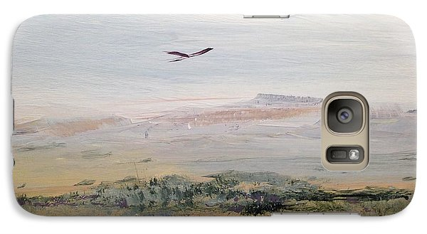 Galaxy Case featuring the painting Sageland by Helen Harris
