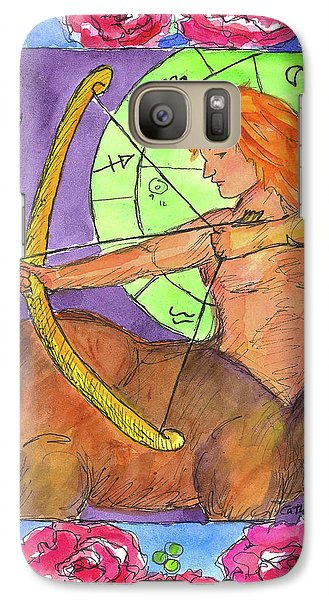 Galaxy Case featuring the painting Sagittarius by Cathie Richardson