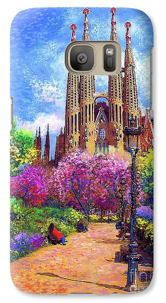 Sagrada Familia And Park,barcelona Galaxy S7 Case