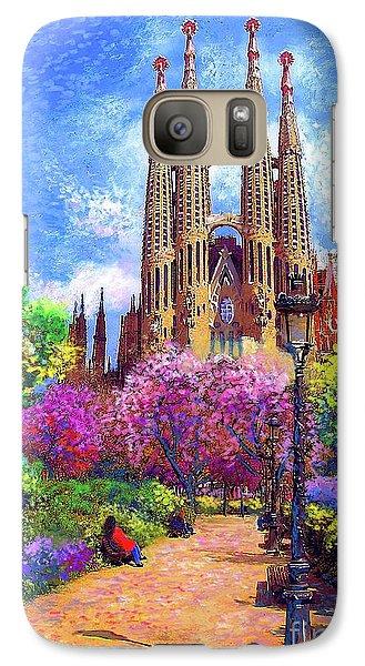 Sagrada Familia And Park,barcelona Galaxy Case by Jane Small