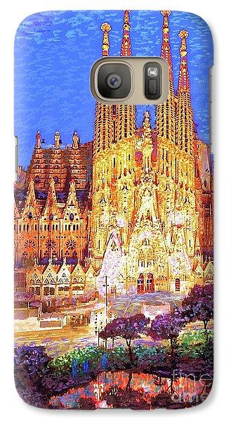 Barcelona Galaxy S7 Case - Sagrada Familia At Night by Jane Small