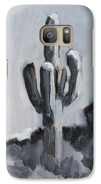 Galaxy Case featuring the painting Saguaro Plein Air Study by Diane McClary