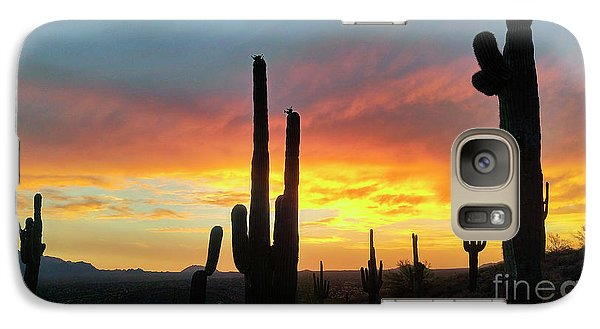 Galaxy Case featuring the photograph Saguaro Sunset by Anthony Citro