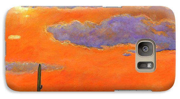 Realistic Galaxy S7 Case - Saguaro Sunset by Johnathan Harris