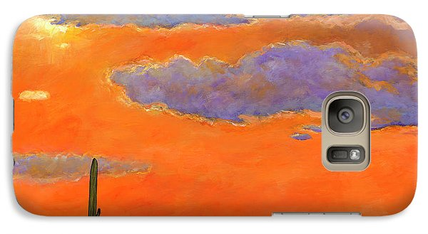 Mountain Galaxy S7 Case - Saguaro Sunset by Johnathan Harris
