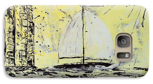 Galaxy Case featuring the painting Sail And Sunrays by J R Seymour