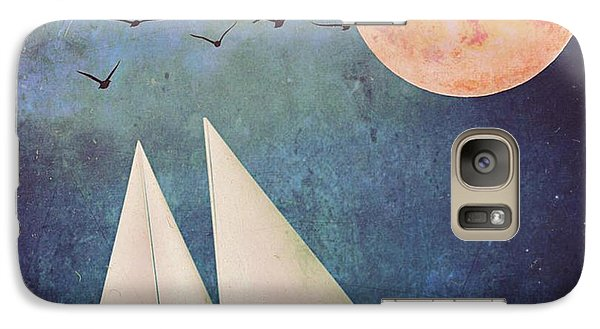 Galaxy Case featuring the digital art Sail Away by Alexis Rotella
