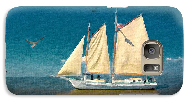 Galaxy Case featuring the painting Sail Away by Chris Armytage