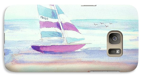 Galaxy Case featuring the painting Sail Away by Denise Fulmer