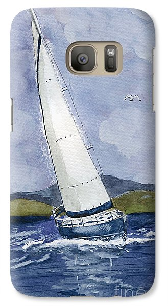 Galaxy Case featuring the painting Sail Away by Eva Ason