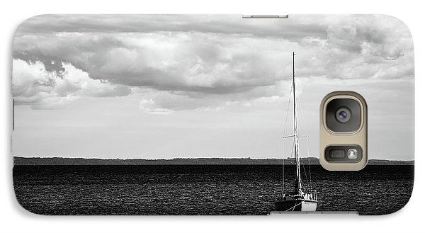Galaxy Case featuring the photograph Sailboat In The Bay by Onyonet  Photo Studios