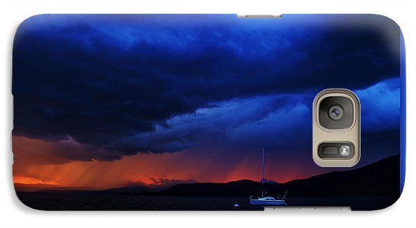 Galaxy Case featuring the photograph Sailboat In Thunderstorm by Sean Sarsfield
