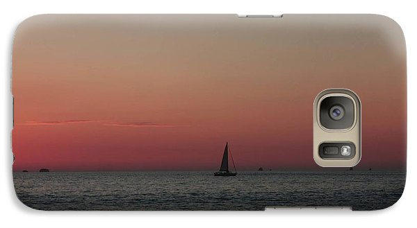 Galaxy Case featuring the photograph Sailboat Sunset Sky by Ellen O'Reilly