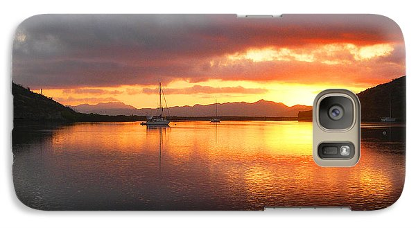 Galaxy Case featuring the digital art Sailboats At Sunrise In Puerto Escondido by Anne Mott