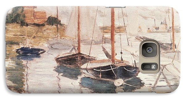 Boat Galaxy S7 Case - Sailboats On The Seine by Claude Monet