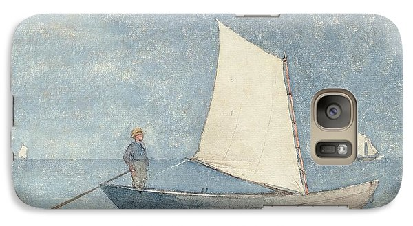 Boat Galaxy S7 Case - Sailing A Dory by Winslow Homer