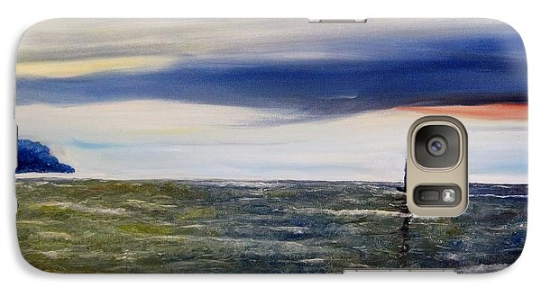 Galaxy Case featuring the painting Sailing At Dusk by Marilyn  McNish